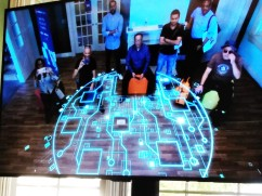 Digital media presentation on the Warner Bros lot
